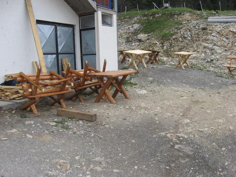 Баштенски намештај - Сто, клупе